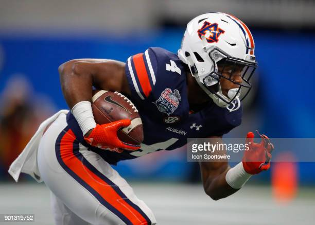 Auburn Tigers wide receiver Noah Igbinoghene during the ChickfilA Peach Bowl football game of the UCF Knights v Auburn Tigers at MercedesBenz Stadium...