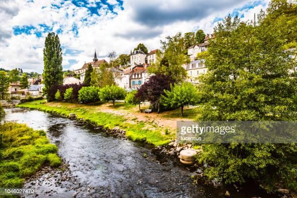 aubusson village, auvergne, france - auvergne stock pictures, royalty-free photos & images
