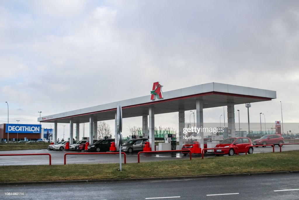 Auchan Petrol Station Is Seen In Gdansk Poland On 17
