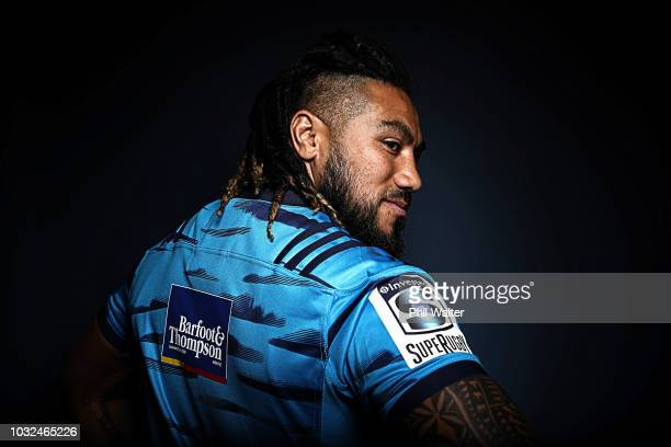 Auckland Blues Ma'a Nonu poses for a headshot session on September 11 2018 in Auckland New Zealand