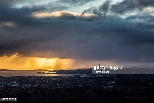 Auckland CBD silhouette - landscape
