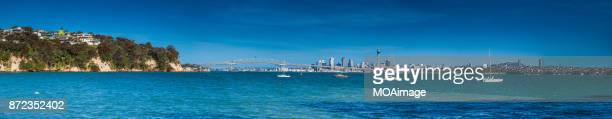 Auckland City and Harbour Bridge in Summer