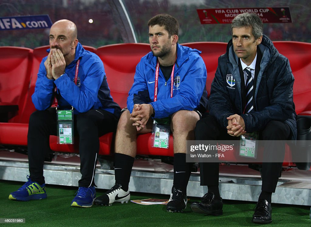 Auckland City Fc Coach Ramon Tribulietx Looks On During The