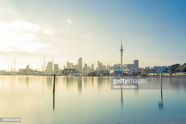 auckland city in the morning - auckland stock pictures, royalty-free photos & images