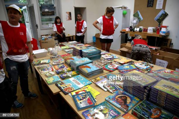 Auckland City Mission volunteers prepare Christmas presents for families in need over Christmas on December 13 2017 in Auckland New Zealand Hundreds...