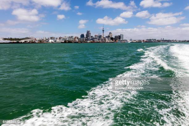 Auckland City viewed from Devonport island Ferry