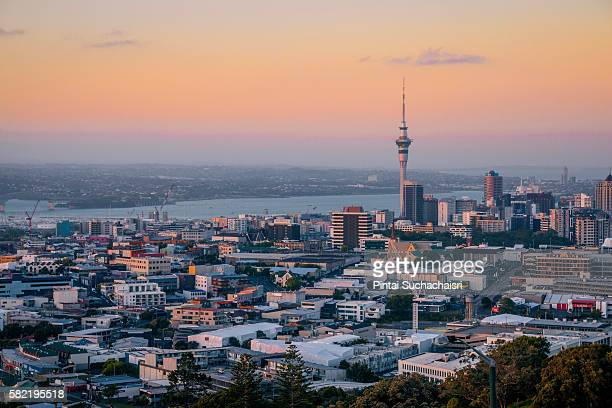 Auckland Cityscape at Twilight