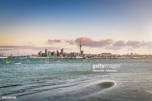Auckland Cityscape Twilight Skyline New Zealand