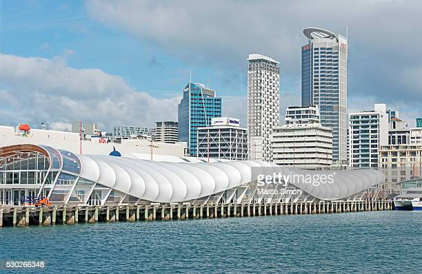 Auckland ferry terminal and skyline, Auckland, North Island, New Zealand, Pacific