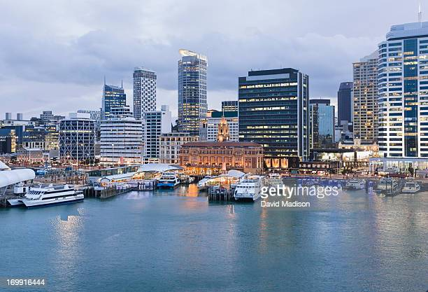 Auckland Ferry Terminal and waterfront.