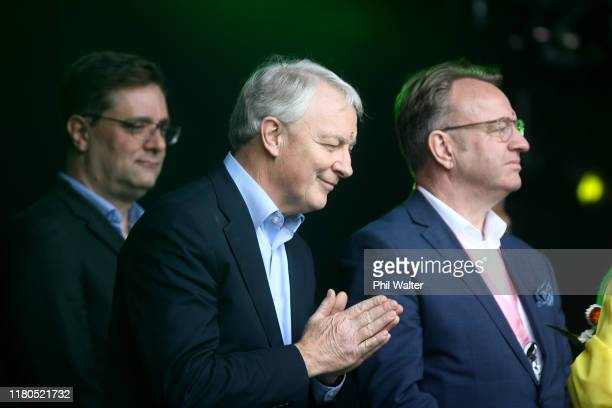 Auckland Mayor Phil Goff is given a blessing during the 18th Auckland Diwali Festival on October 12, 2019 in Auckland, New Zealand. Auckland Diwali...