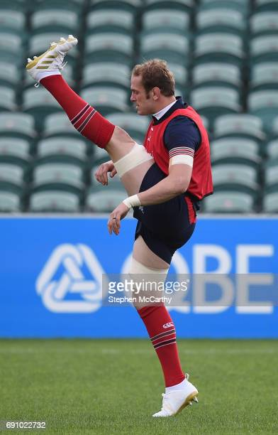 Auckland New Zealand 1 June 2017 Alun Wyn Jones of the British and Irish Lions during a training session at the QBE Stadium in Auckland New Zealand