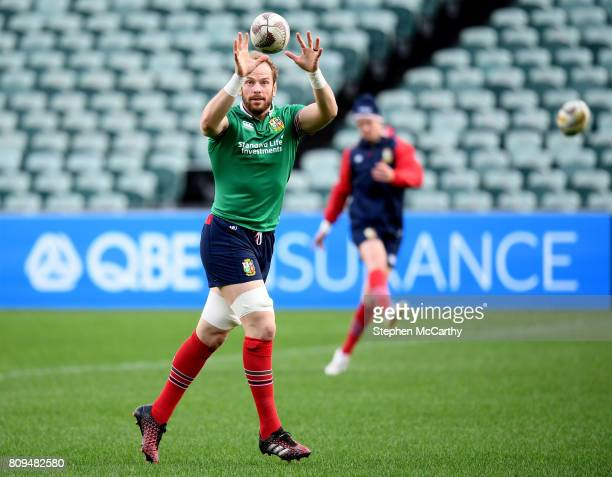 Auckland New Zealand 6 July 2017 Alun Wyn Jones during a British and Irish Lions training session at QBE Stadium in Auckland New Zealand