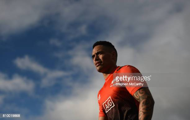 Auckland New Zealand 7 July 2017 Aaron Smith during the New Zealand All Blacks captain's run at Eden Park in Auckland New Zealand