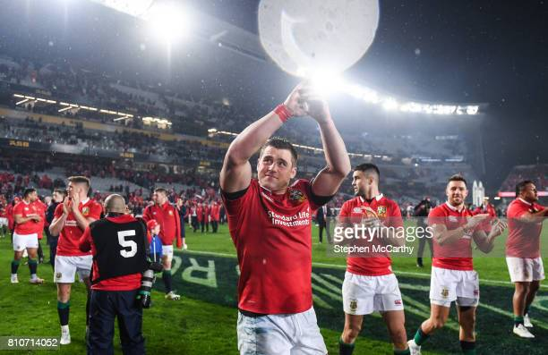 Auckland New Zealand 8 July 2017 CJ Stander of the British Irish Lions following the Third Test match between New Zealand All Blacks and the British...