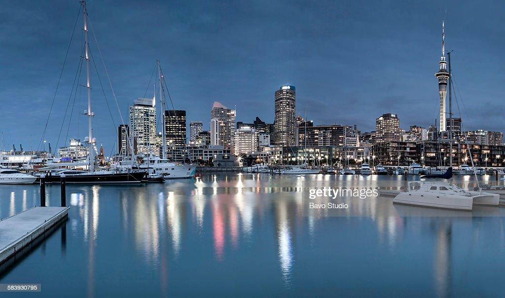 Auckland night : Stock Photo