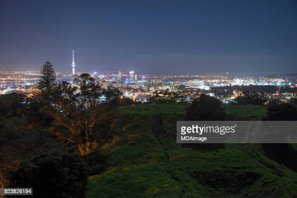 Auckland night view form the  Mt Eden,New Zealand