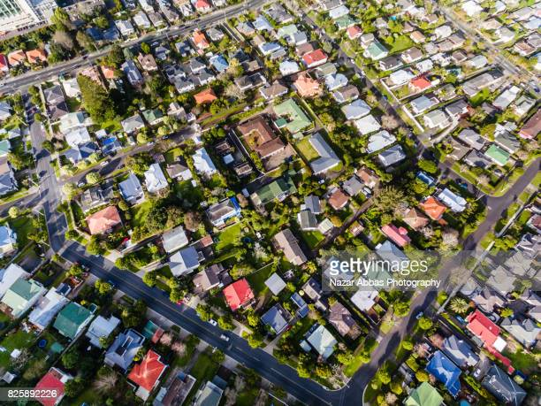 Auckland Property Market Aerial View.