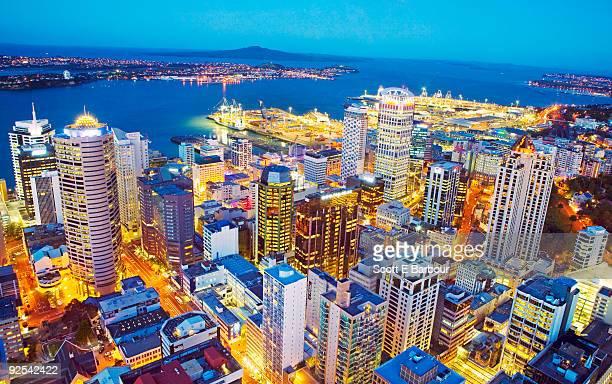 Auckland Skyline from Sky Tower