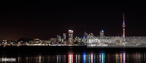 Auckland Skyline with Sky Tower Night