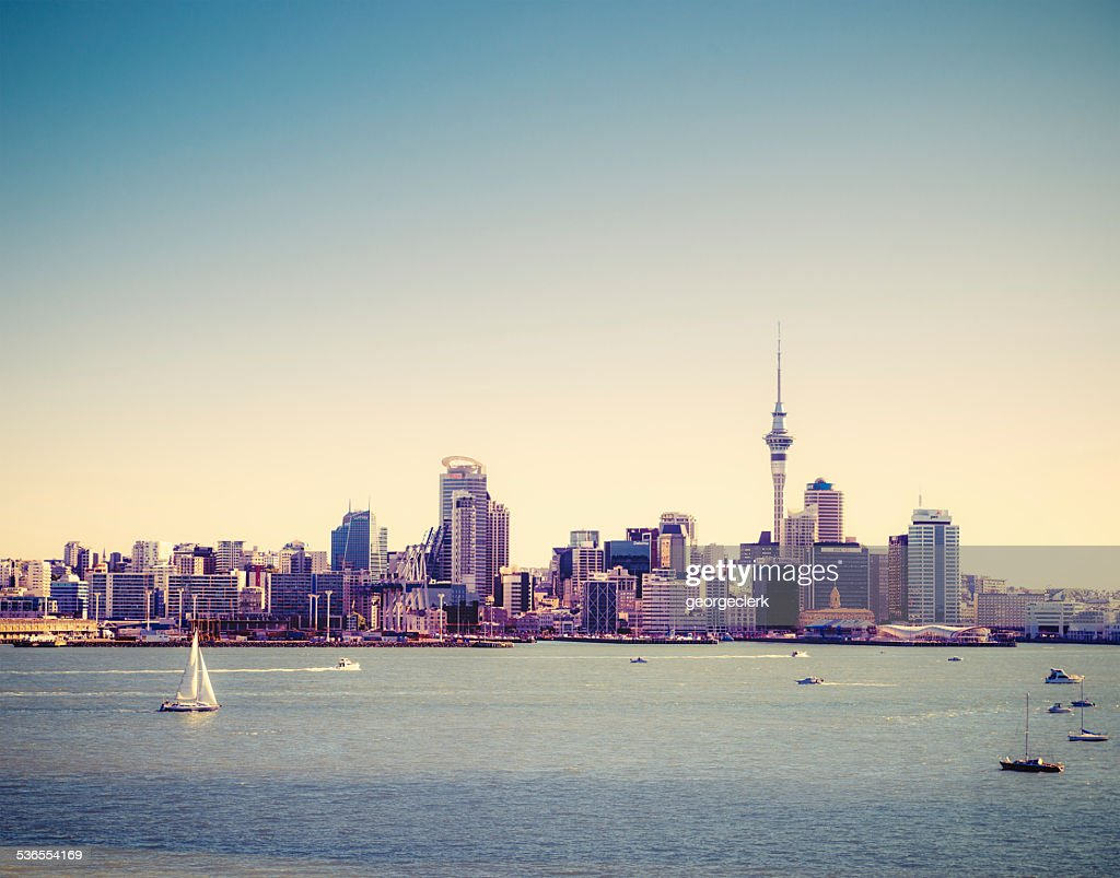 Auckland Summer Skyline : Stock Photo