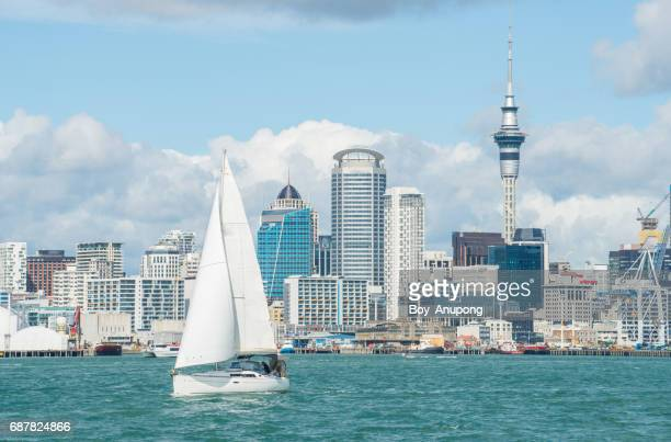 Auckland the city of sails, New Zealand.