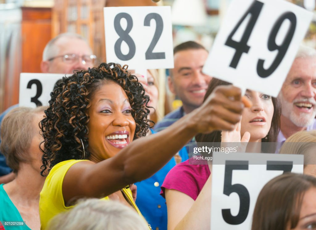 Auction Crowd : Stock Photo