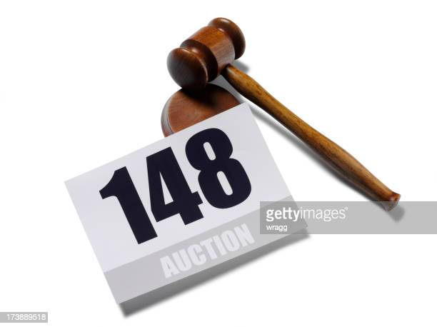 Auction Paddle and Gavel