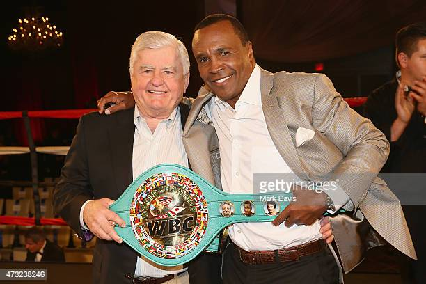 Auction winner and former Boxer Sugar Ray Leonard attend B Riley Co And Sugar Ray Leonard Foundation's 6th Annual Big Fighters Big Cause Charity...