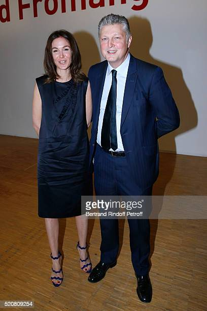 Auctioneer at Artcurial Francois Tajan and his wife Veronique attend the Societe des Amis du Musee d'Art Moderne du Centre Pompidou Dinner Party Held...