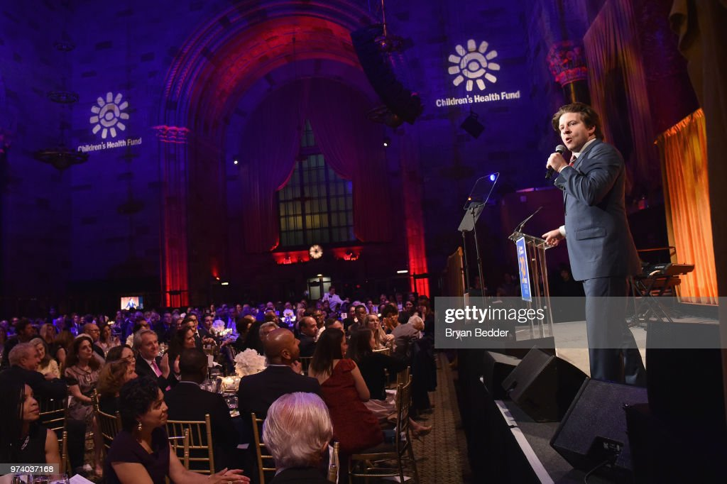 Auctioneer CK Swett speaks onstage during the Children's Health Fund 2018 Annual Benefit at Cipriani 42nd Street on June 13, 2018 in New York City.