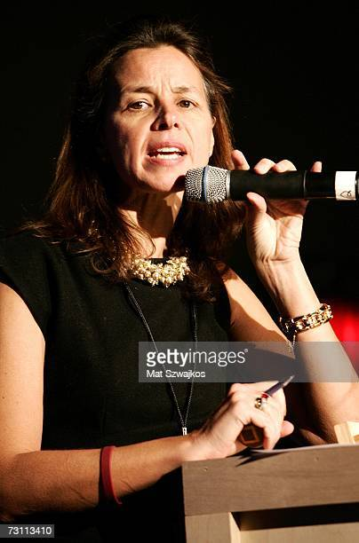 "Auctioneer Geraldine Nager speaks at Kenneth Cole's ""R.S.V.P. To HELP"" benefit hosted by Kenneth Cole and Jon Bon Jovi at the Tribeca Rooftop on..."