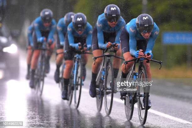 Aude Biannic of France and Movistar Team / Margarita Victoria Garcia of Spain and Movistar Team / Alicia González of Spain and Movistar Team /...