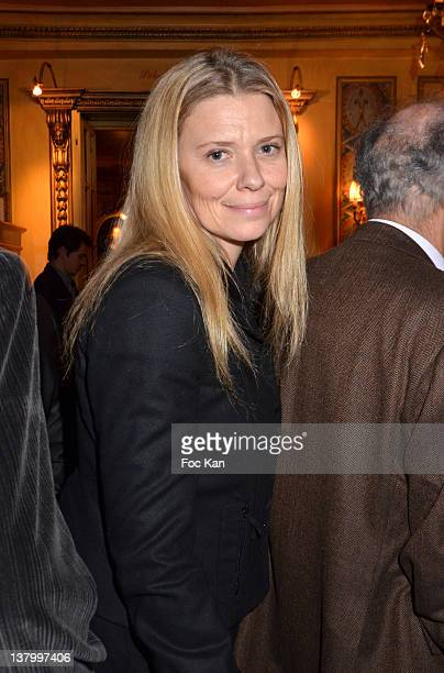Aude Lancelin attends the Procope Des Lumieres' Literary Awards First Edition at the Procope on January 30 2012 in Paris France