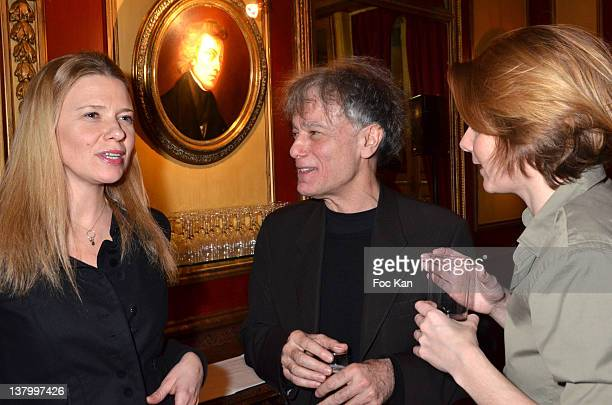 Aude Lancelin Procope 2012 award recipient writer Ruwen Ogien and Caroline Fourest attend the Procope Des Lumieres' Literary Awards First Edition at...