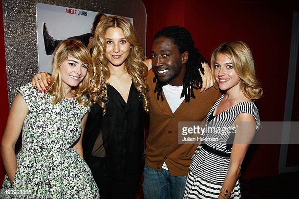"Aude Pepin, Kimberly Zakine, Noom Diawara and Victoria Monfort attend ""Amour Sur Place"" Paris Premiere at Cinema Gaumont Capucine on May 26, 2014 in..."