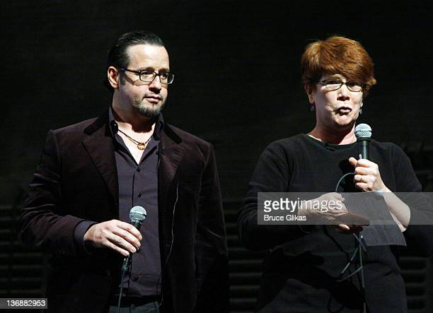 CEO Audemars Piquet North America FrancoisHenry Bennahmias and Producer Sue Frost at a special performance of Memphis for Inspire Change presented by...