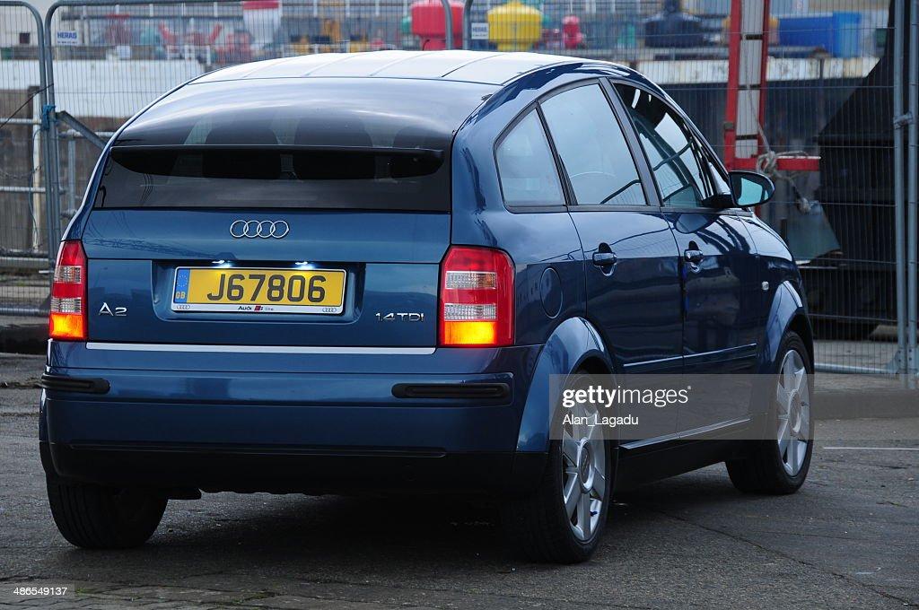 Audi A2 2002 1.4 TDi SE, U.K. : Stock Photo