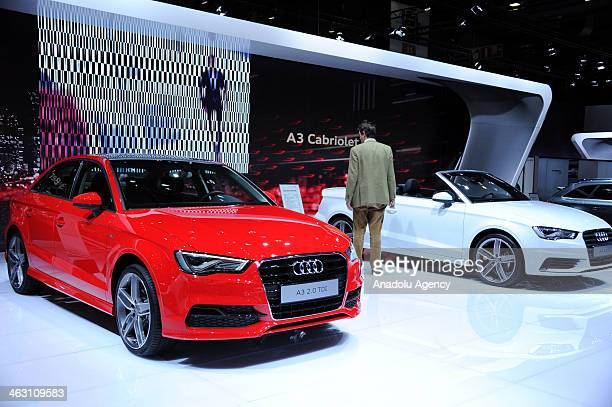 Audi A3 Berline is presented during 92nd Brussels Motor Show , from 16 to 26 January 2014, at Brussels Expo at the Heysel in Brussels, Belgium,...