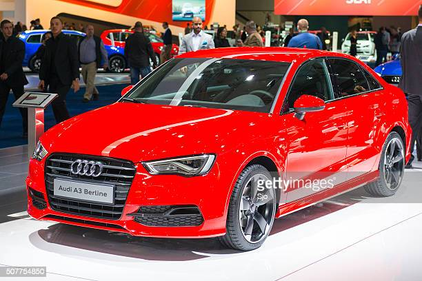 audi a3 berline compact saloon car - compact car stock photos and pictures