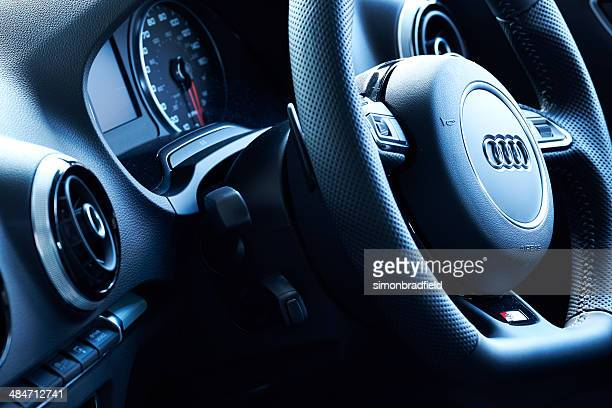 audi a3 interior - audi stock pictures, royalty-free photos & images