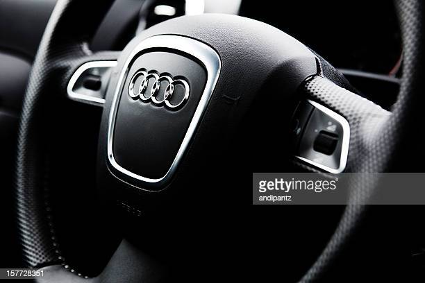 audi a3 quattro steering wheel - audi stock pictures, royalty-free photos & images