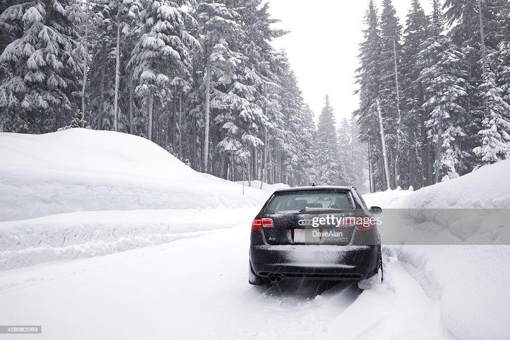 Audi A3 Quattro Winter. : Stock Photo