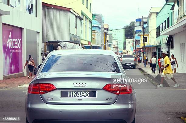 audi a4 1.8 t sedan in city of castries - audi a4 stock photos and pictures