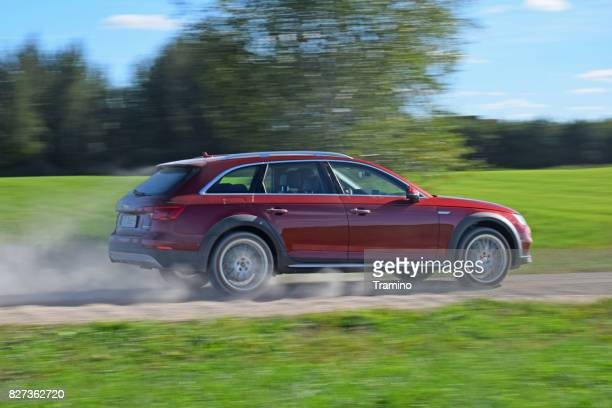 audi a4 allroad in motion - audi a4 stock photos and pictures