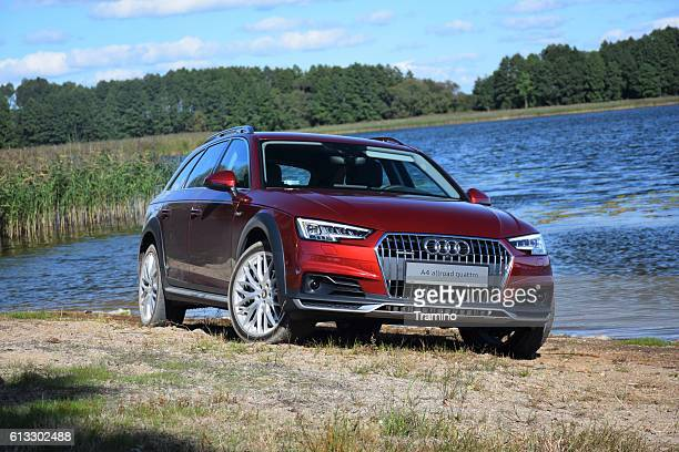 audi a4 allroad quattro by the lake - audi a4 stock photos and pictures