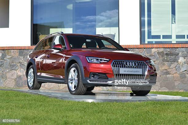 audi a4 allroad quattro on the exposition - audi a4 stock photos and pictures