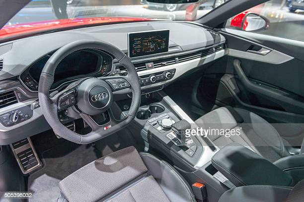 audi a4 avant luxury estate car interior - audi a4 stock photos and pictures