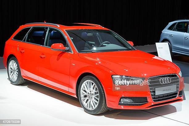 audi a4 avant luxury estate car - audi a4 stock photos and pictures
