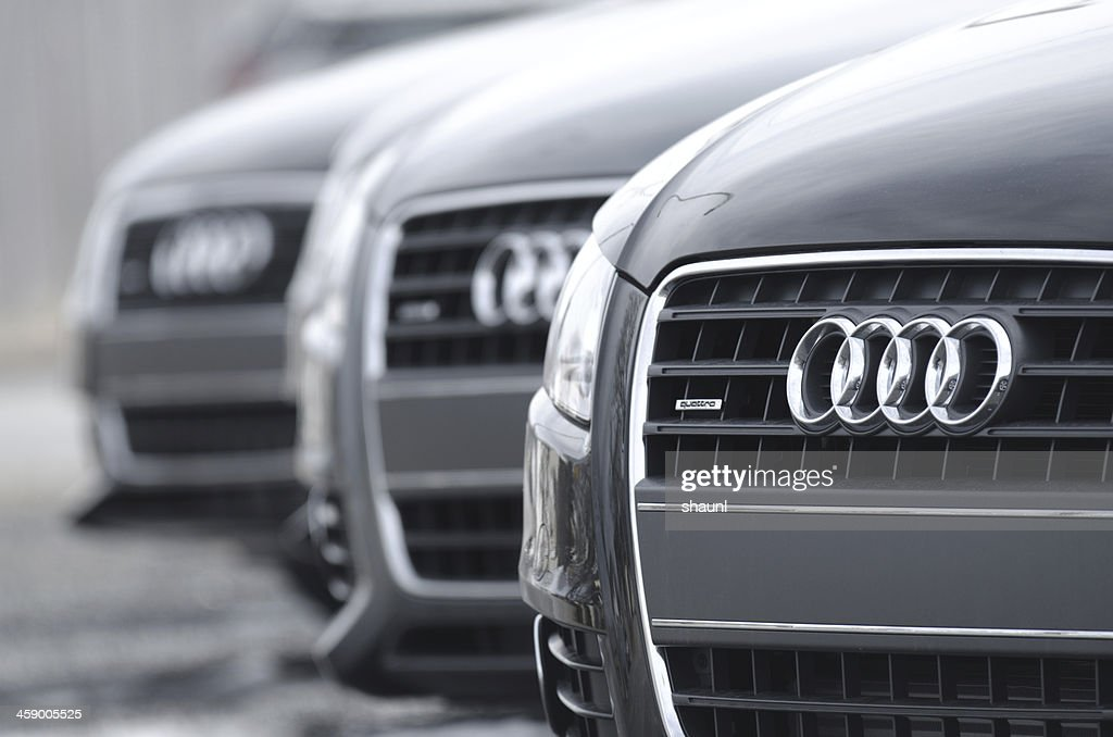 Audi A4 Quattro Sedans : Stock Photo